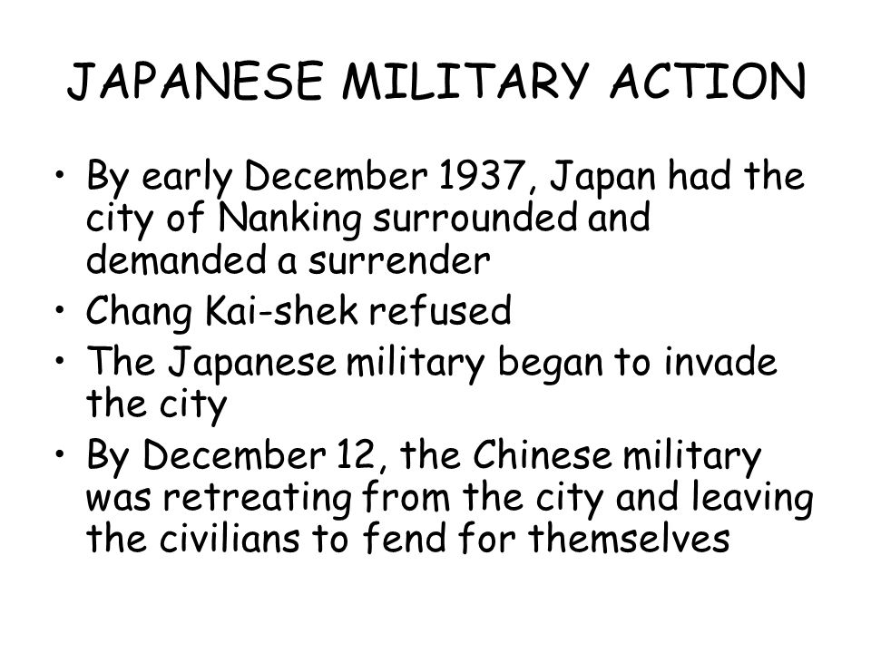 JAPANESE MILITARY ACTION