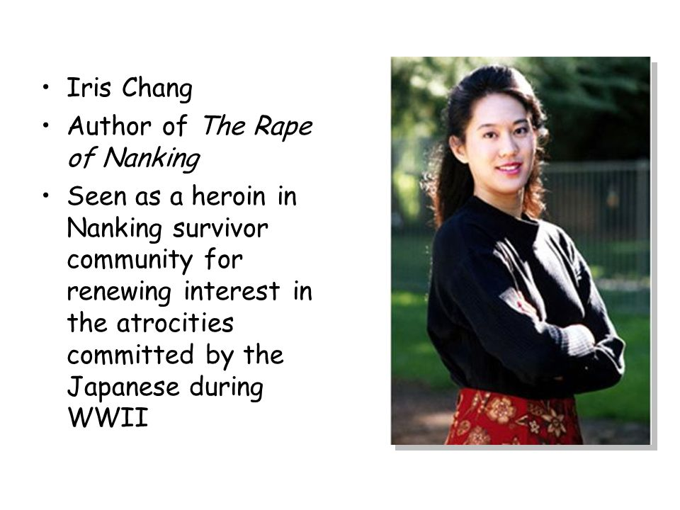 Iris Chang Author of The Rape of Nanking.