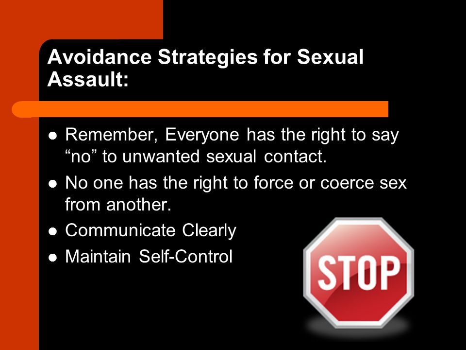 Avoidance Strategies for Sexual Assault: