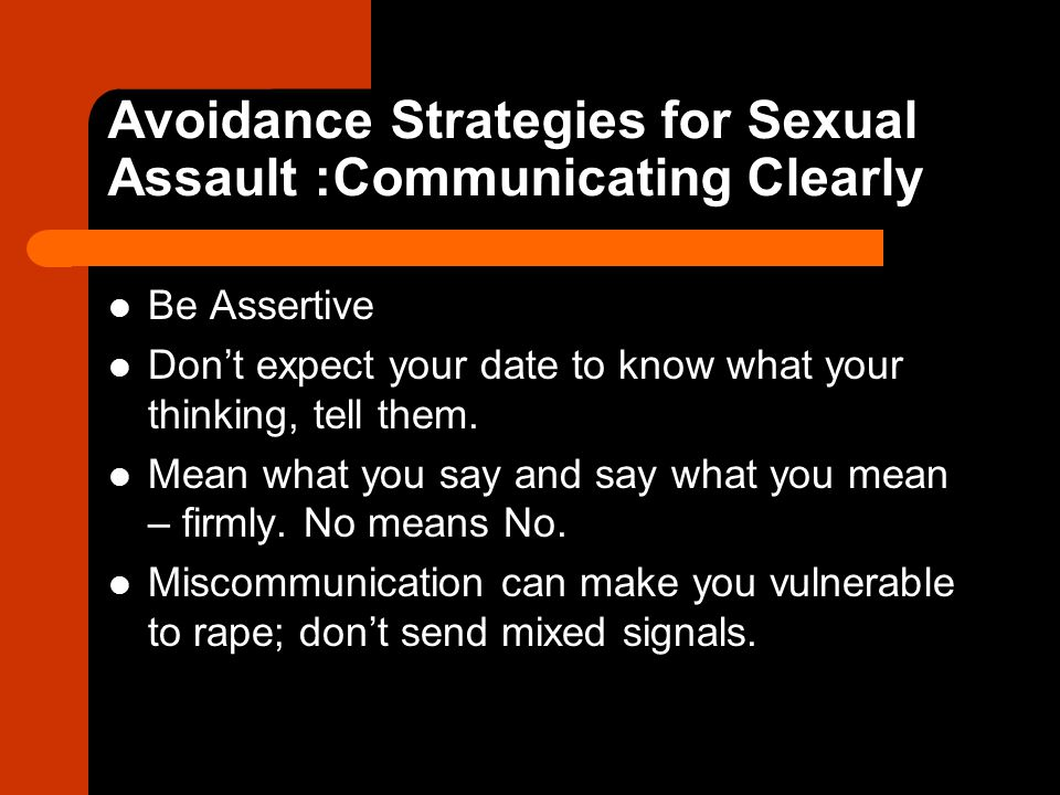 Avoidance Strategies for Sexual Assault :Communicating Clearly