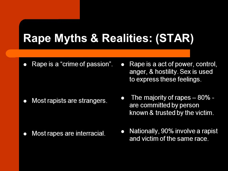 Rape Myths & Realities: (STAR)