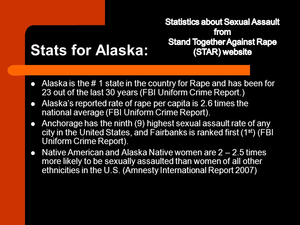Stats for Alaska: Statistics about Sexual Assault from