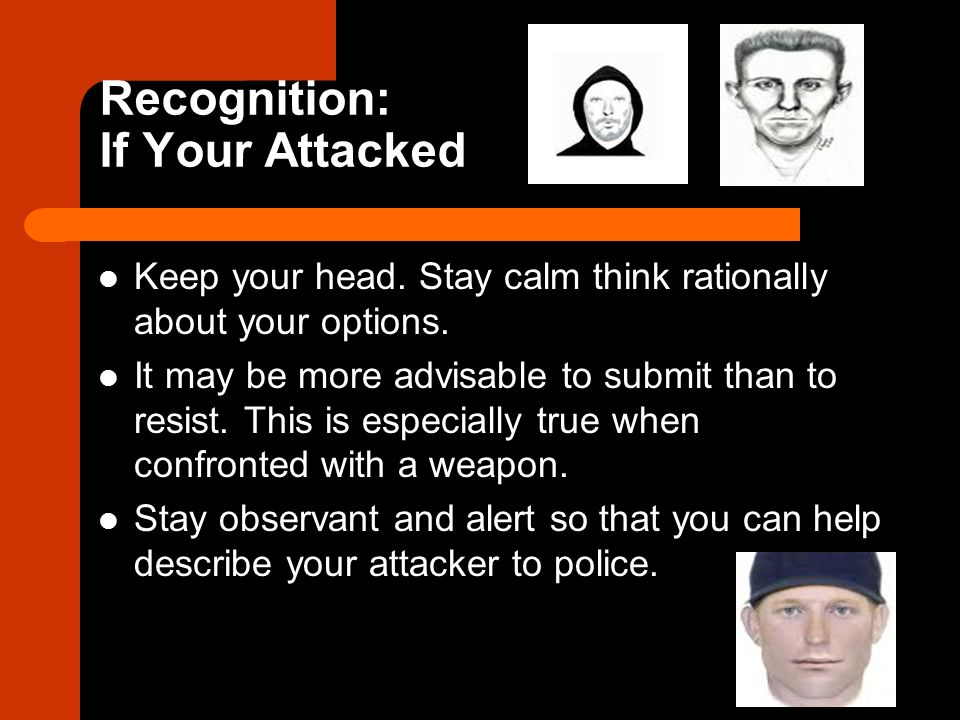 Recognition: If Your Attacked