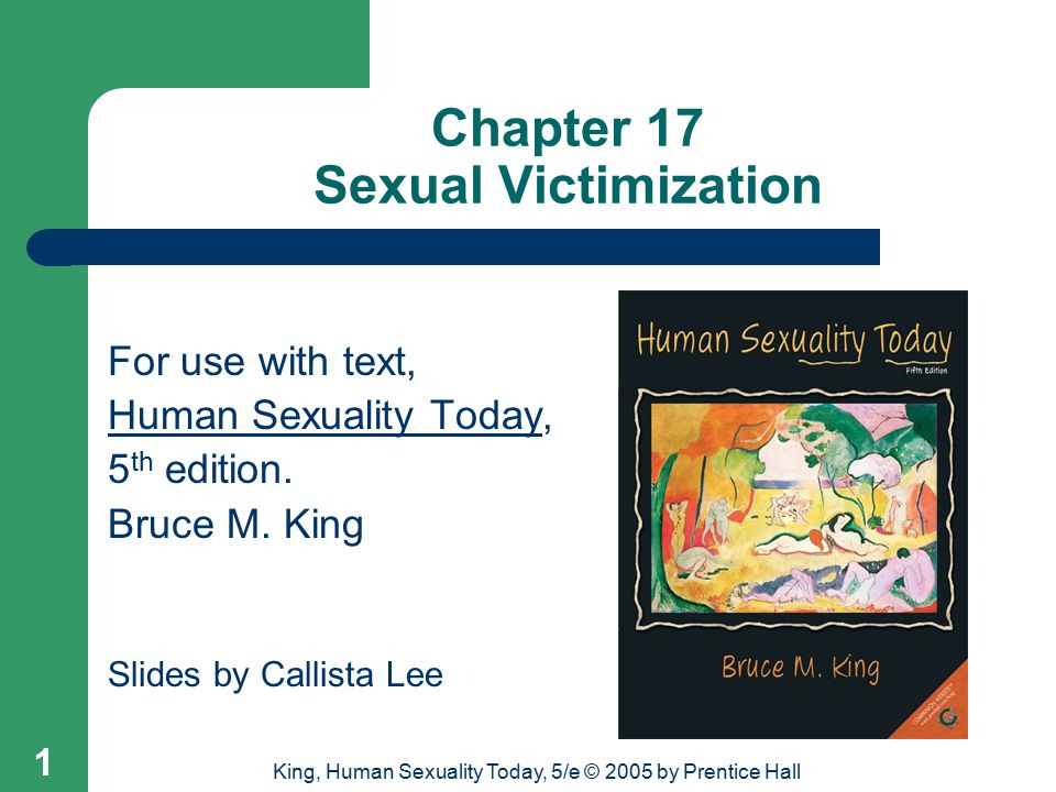 Chapter 17 Sexual Victimization