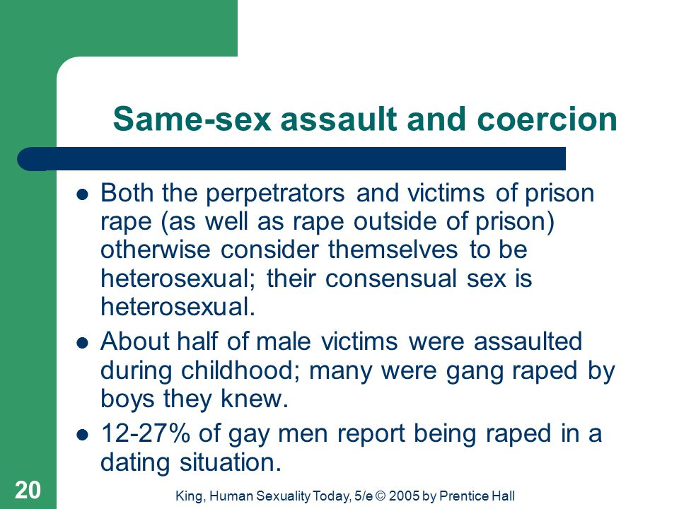 Same-sex assault and coercion