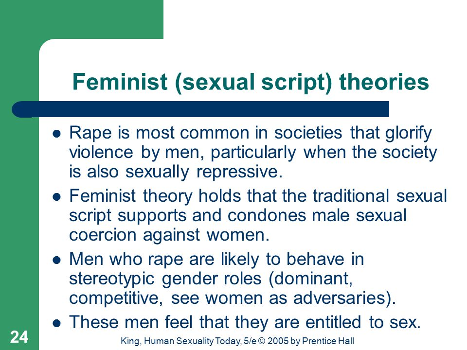 Feminist (sexual script) theories