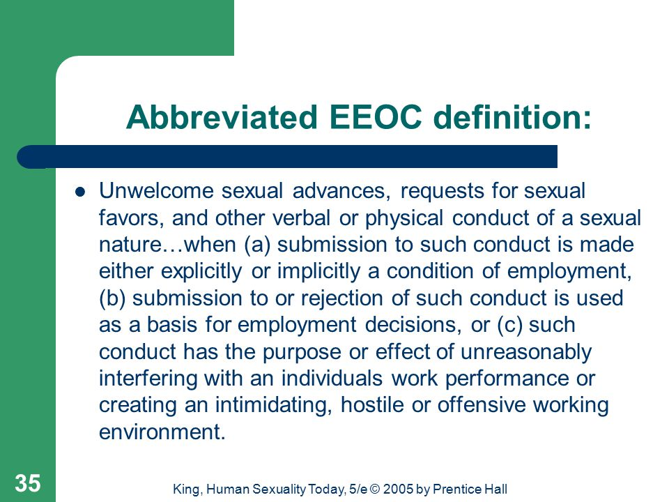 Abbreviated EEOC definition: