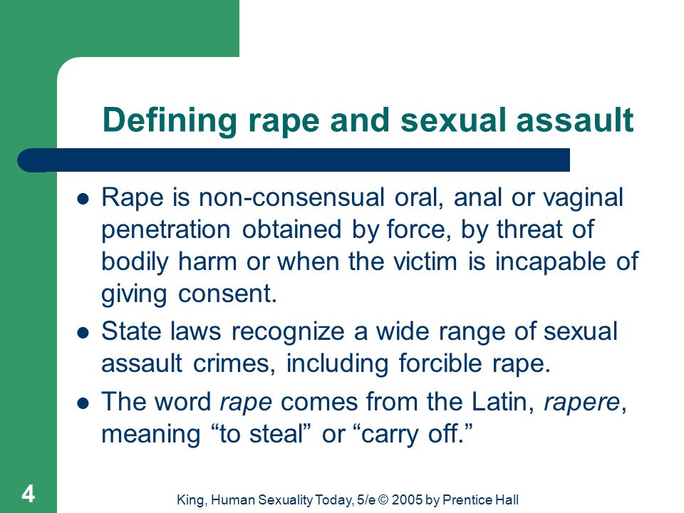 Defining rape and sexual assault