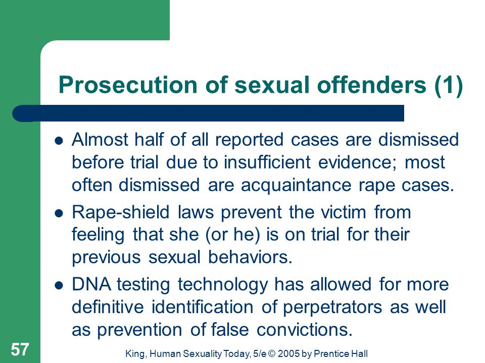 Prosecution of sexual offenders (1)