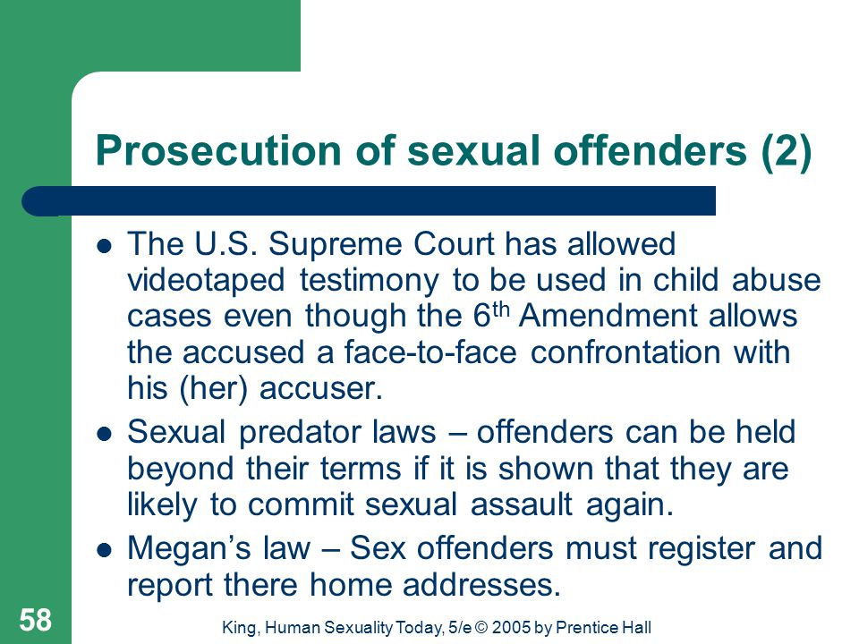 Prosecution of sexual offenders (2)