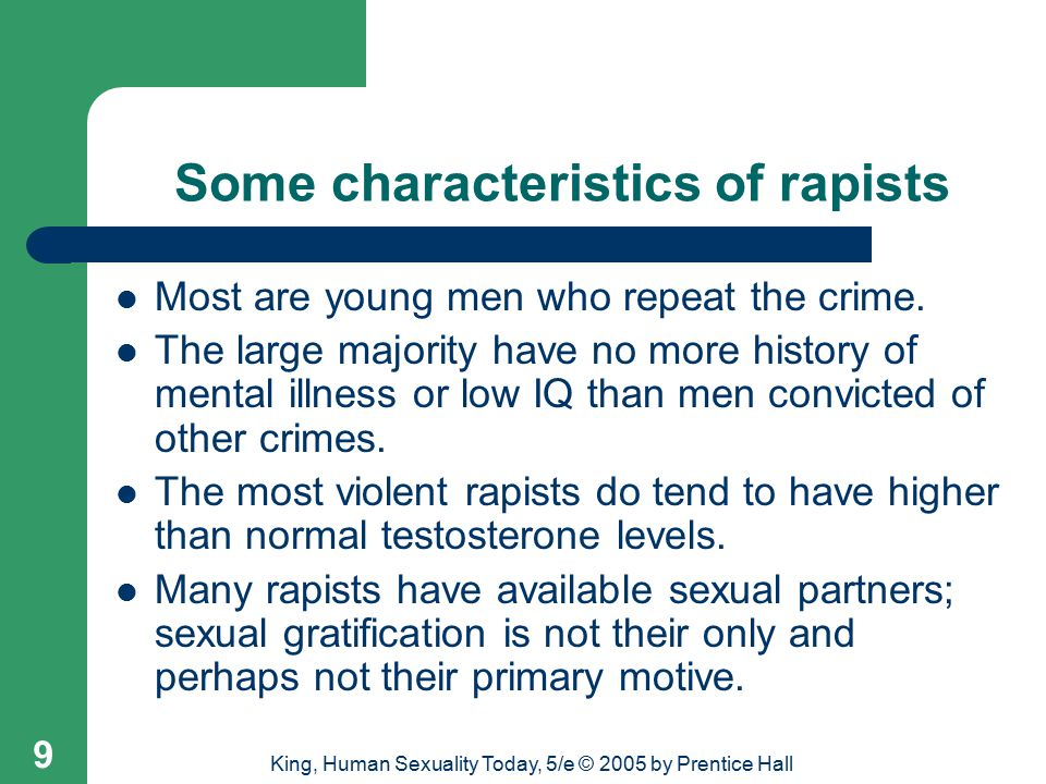 Some characteristics of rapists