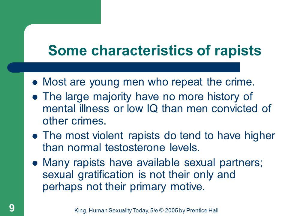 Some characteristics of rapists