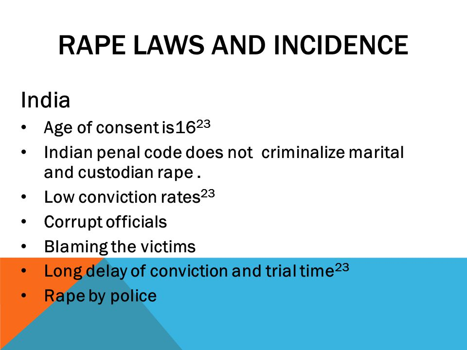 Rape laws and incidence