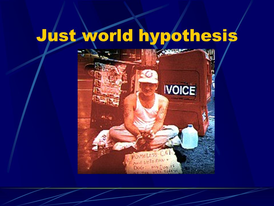 Just world hypothesis