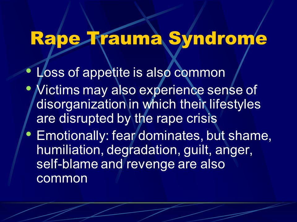 rape and rape trauma syndrome Rape [rāp] sexual assault or abuse sexual intercourse (vaginal or anal penetration) against the will and without the consent of the individual the crime of rape continues.