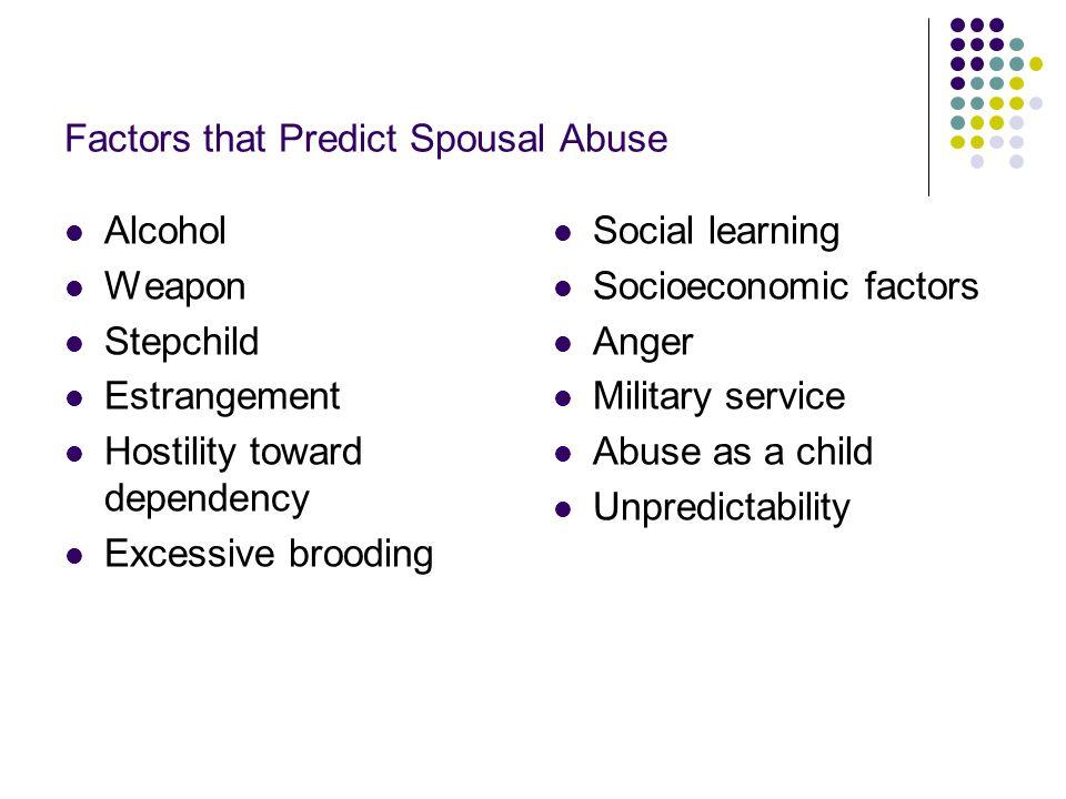 Factors that Predict Spousal Abuse