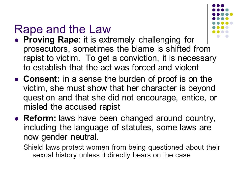 Rape and the Law