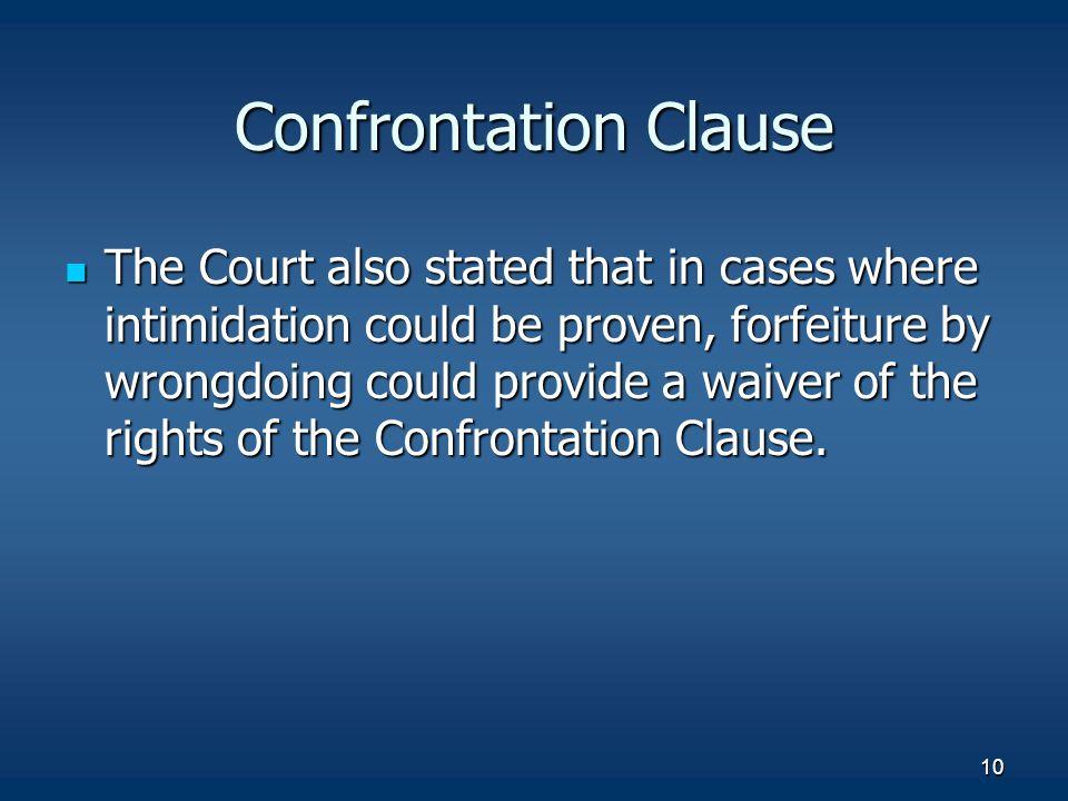 Confrontation Clause
