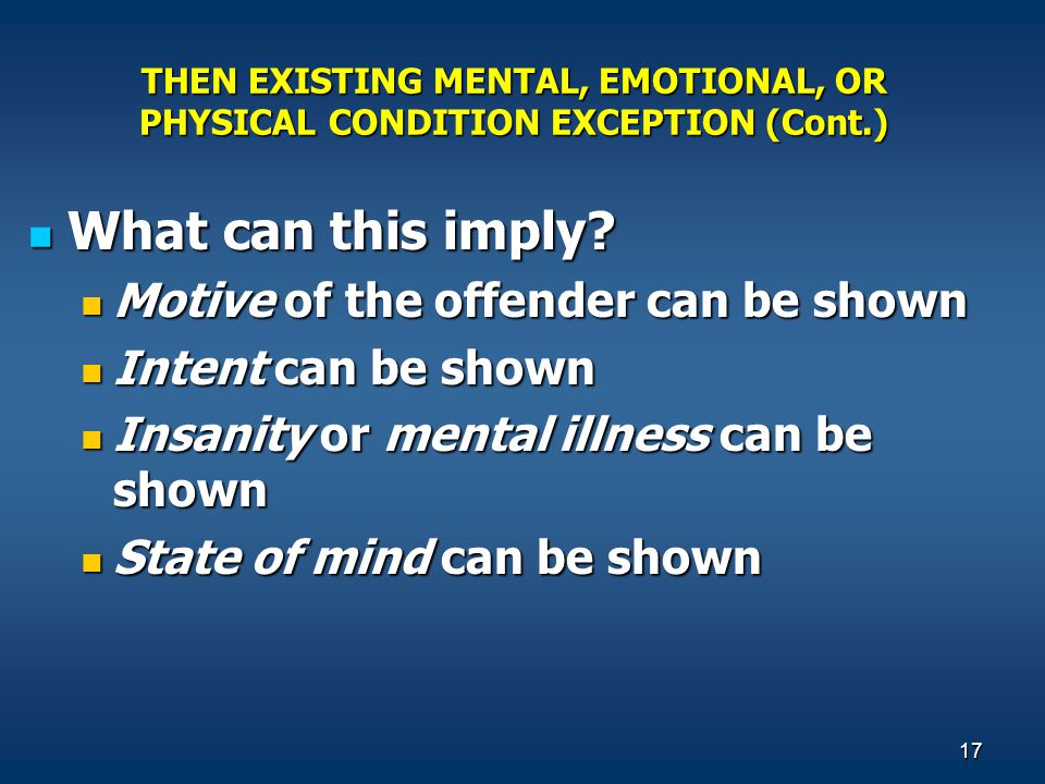 What can this imply Motive of the offender can be shown