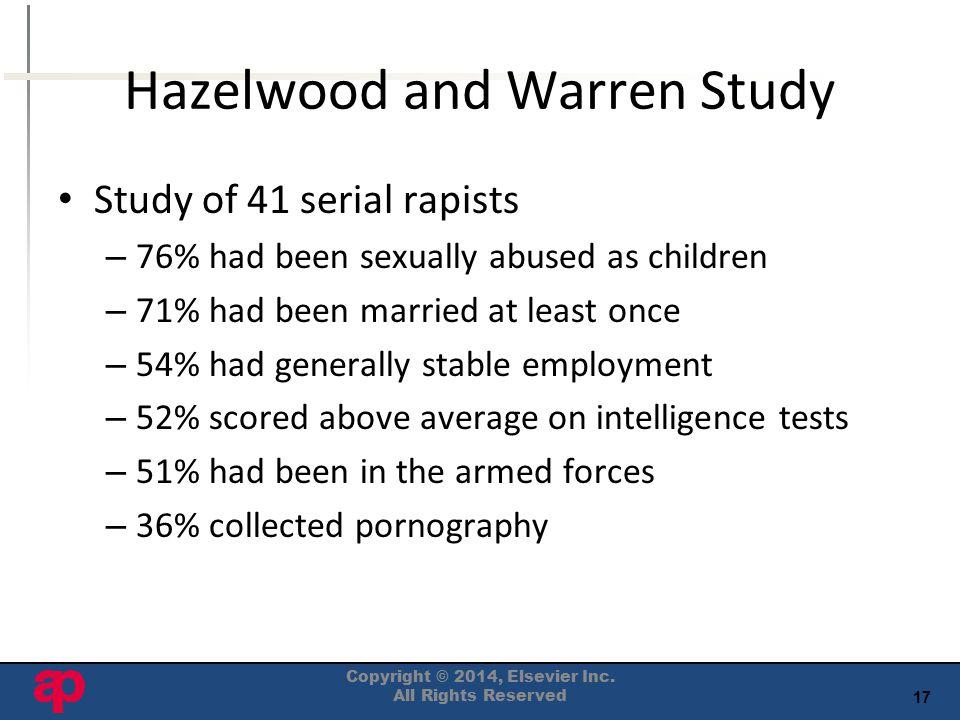Hazelwood and Warren Study