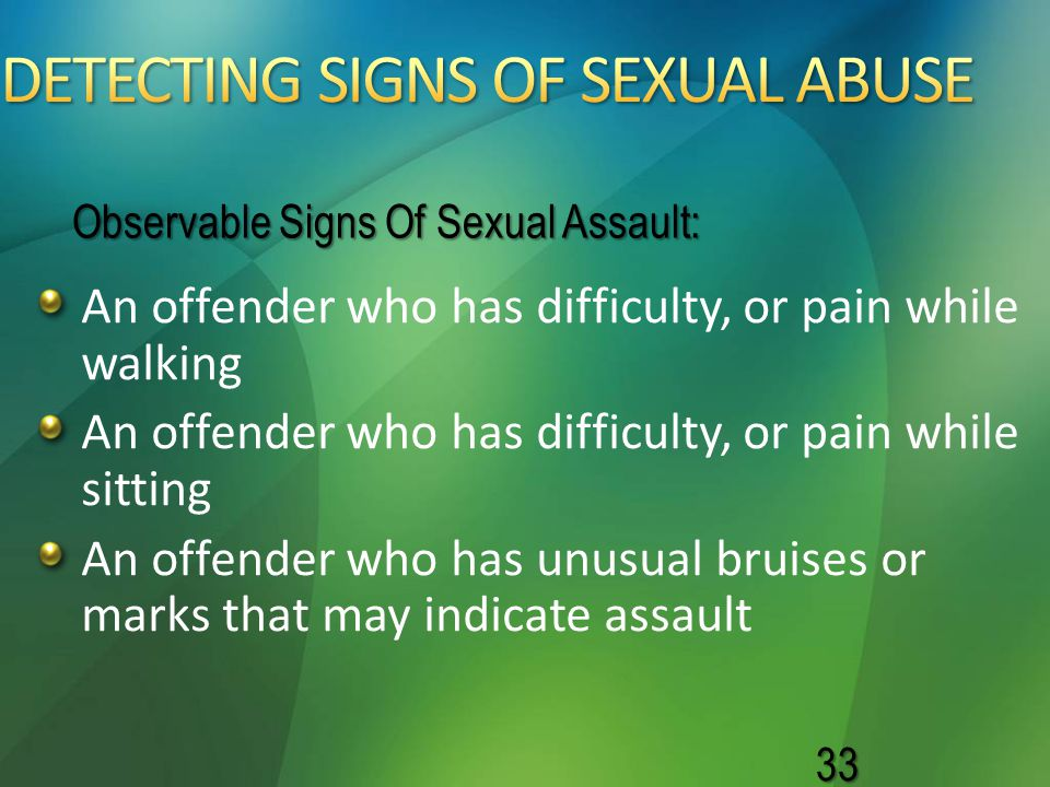 DETECTING SIGNS OF SEXUAL ABUSE