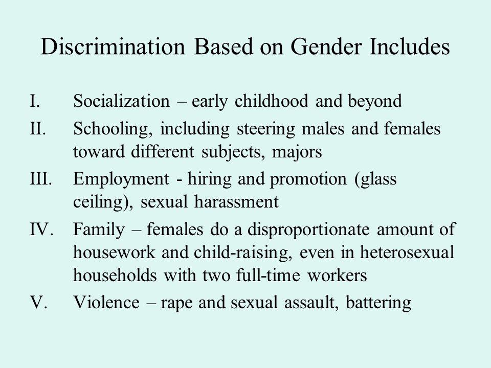 Discrimination Based on Gender Includes