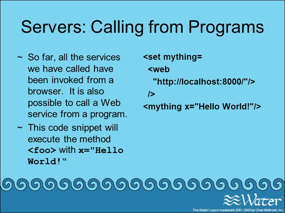 Servers: Calling from Programs