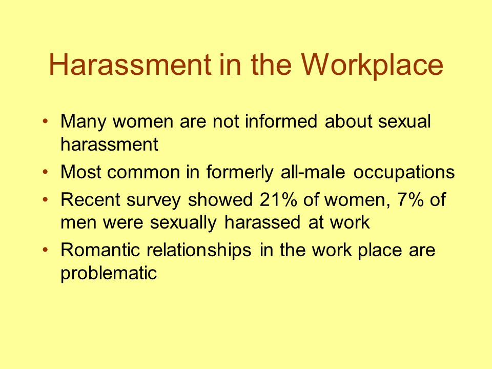 Harassment in the Workplace