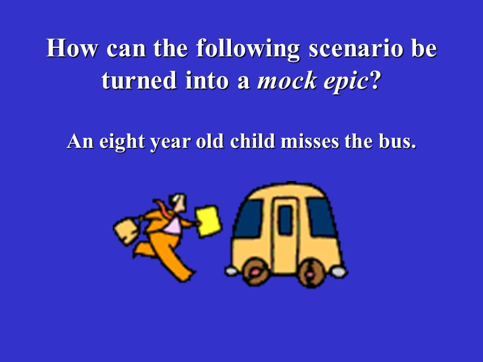 How can the following scenario be turned into a mock epic