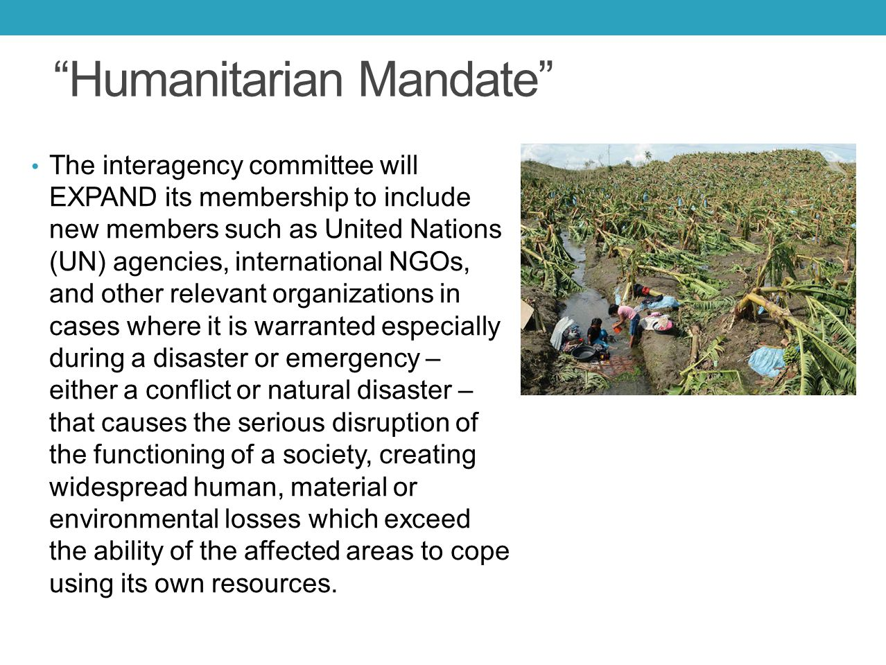 Humanitarian Mandate