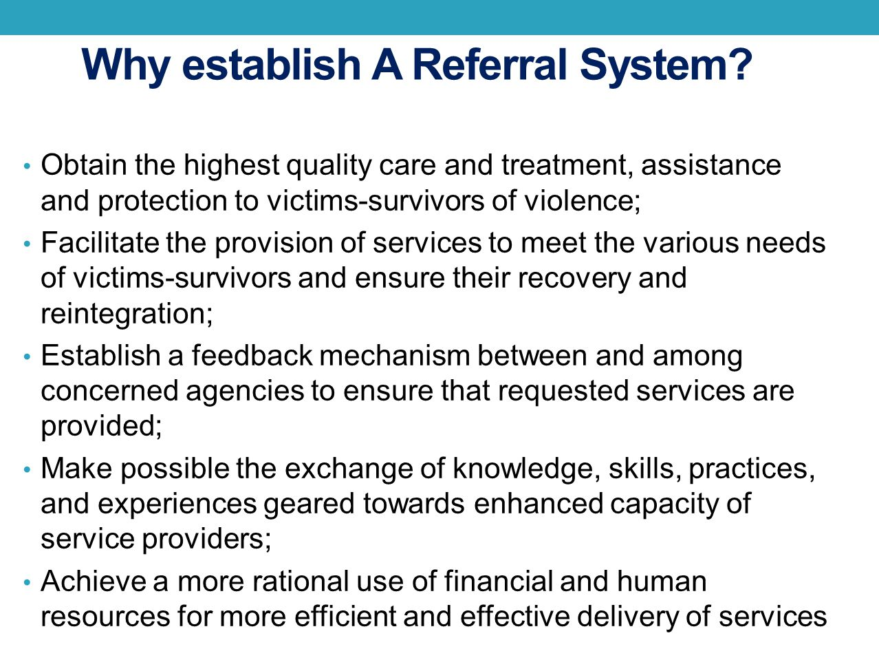 Why establish A Referral System