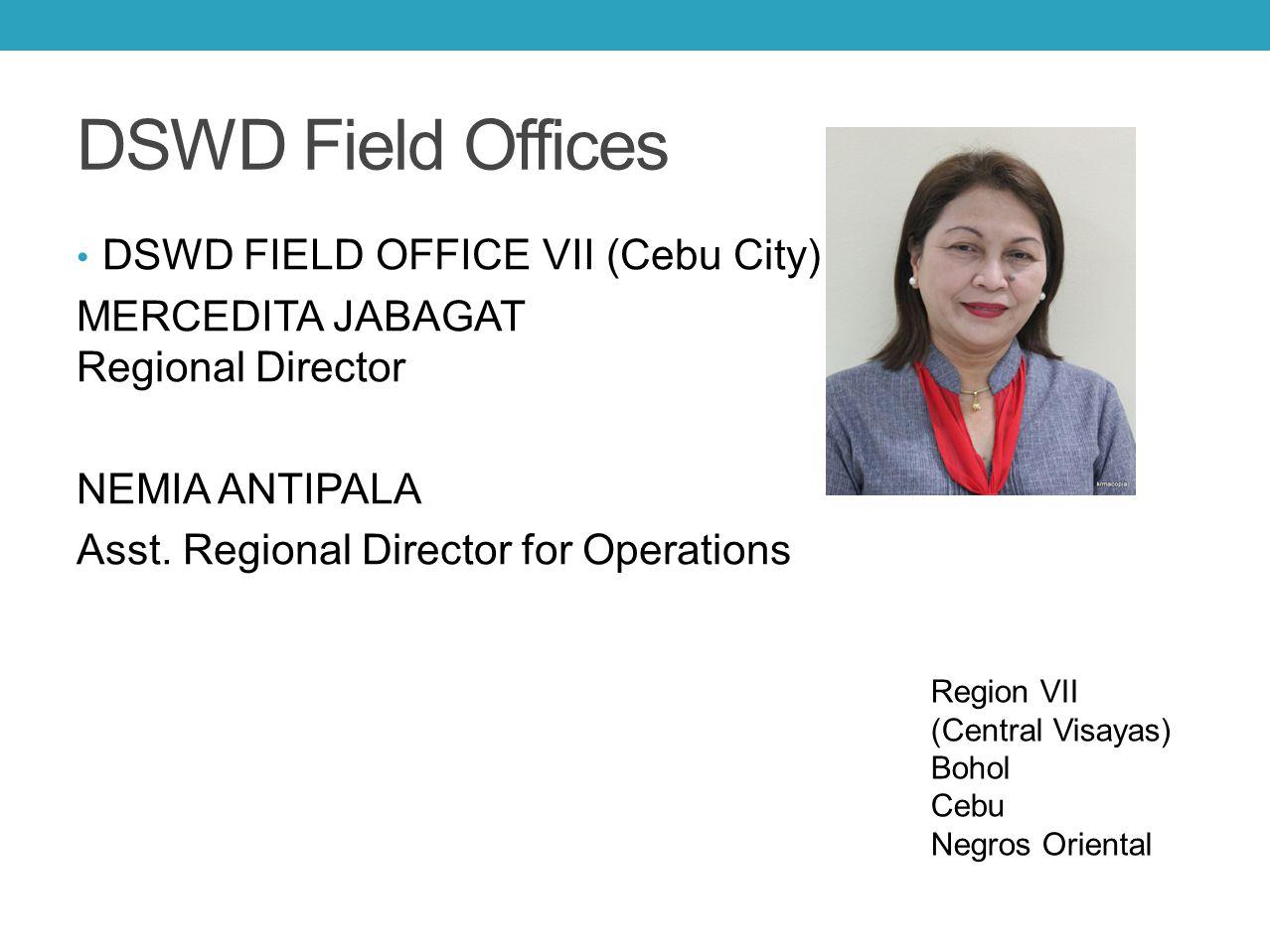 DSWD Field Offices DSWD FIELD OFFICE VII (Cebu City)