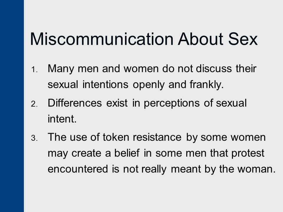 Miscommunication About Sex