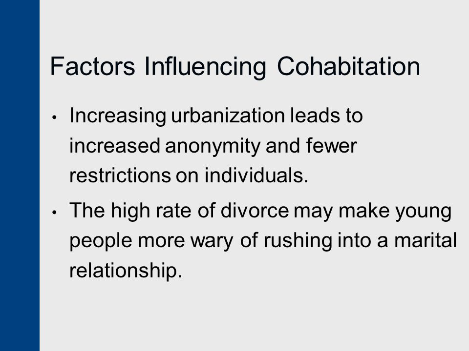 Factors Influencing Cohabitation