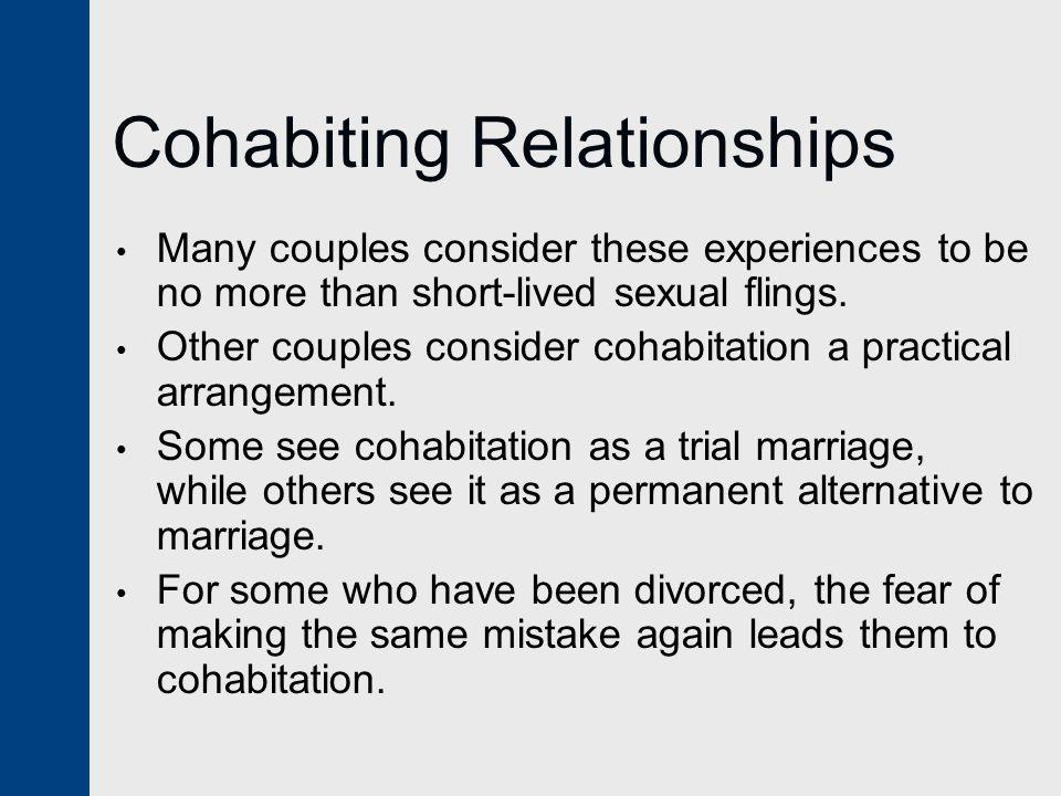 Cohabiting Relationships