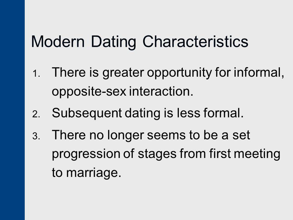 Modern Dating Characteristics