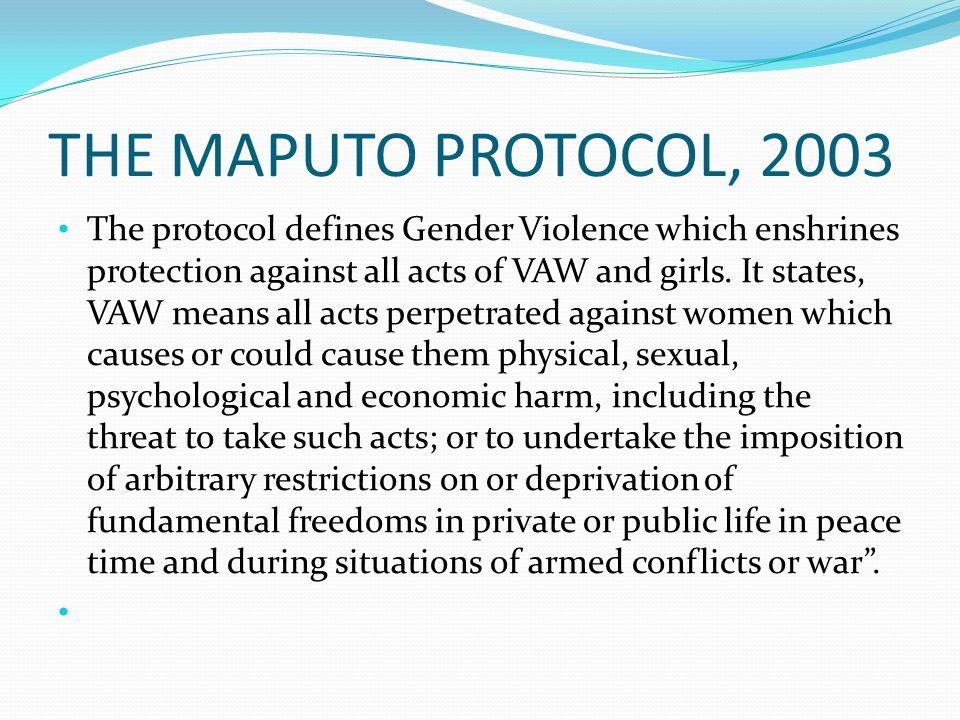THE MAPUTO PROTOCOL, 2003