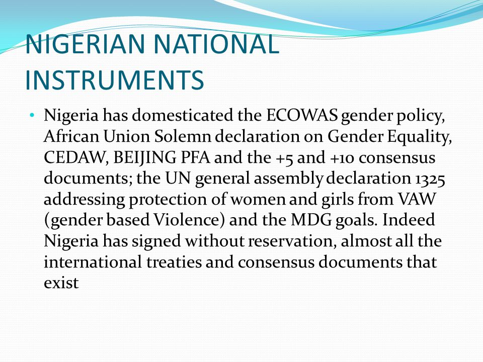 NIGERIAN NATIONAL INSTRUMENTS