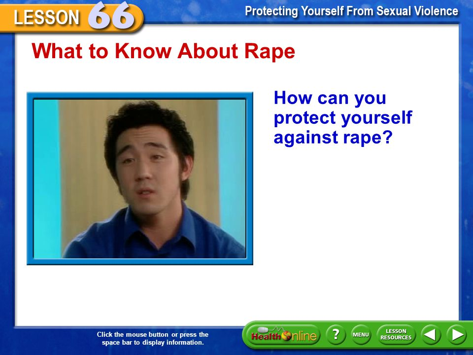 What to Know About Rape How can you protect yourself against rape