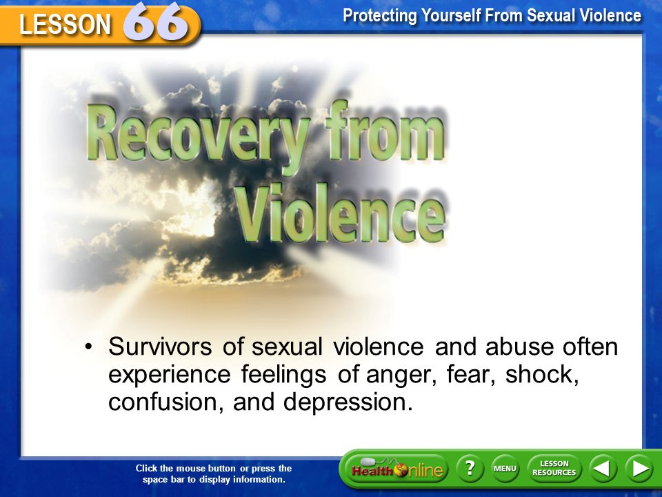 Recovery from Violence