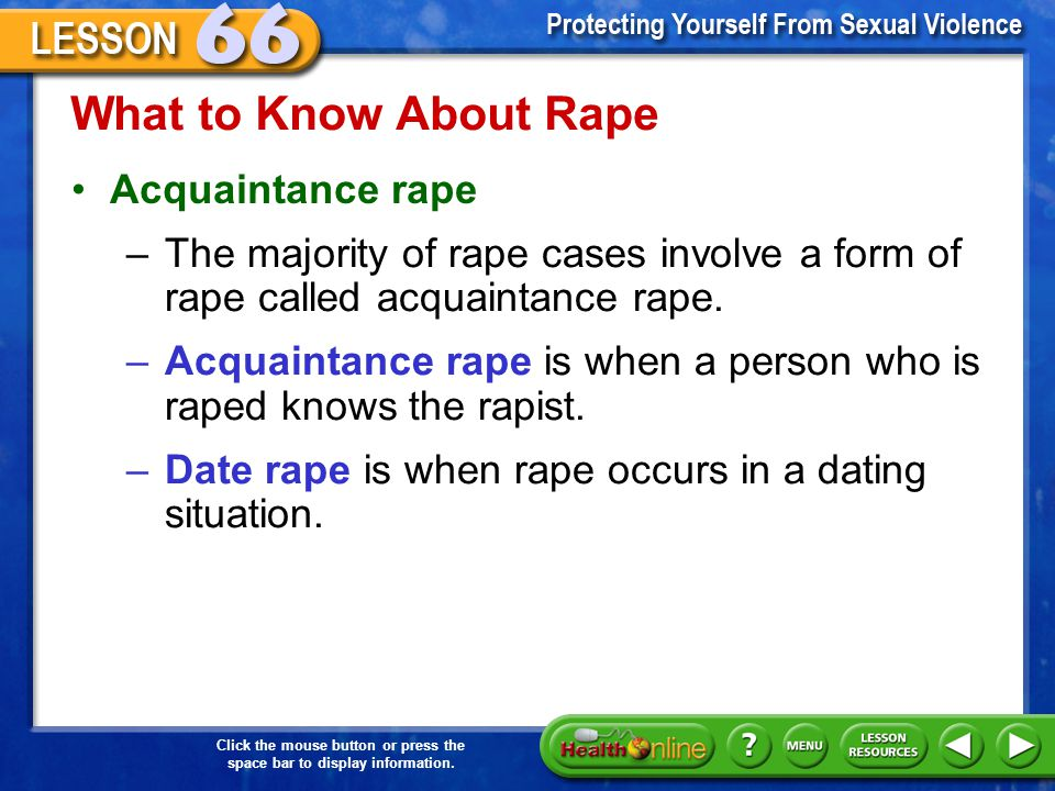 What to Know About Rape Acquaintance rape