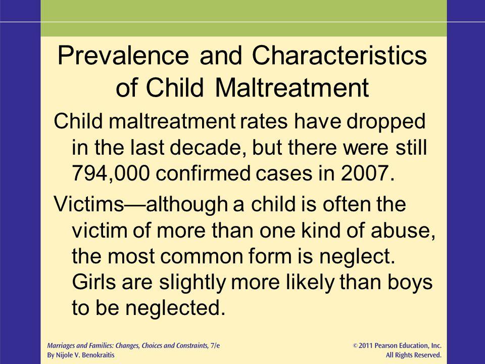 Prevalence and Characteristics of Child Maltreatment