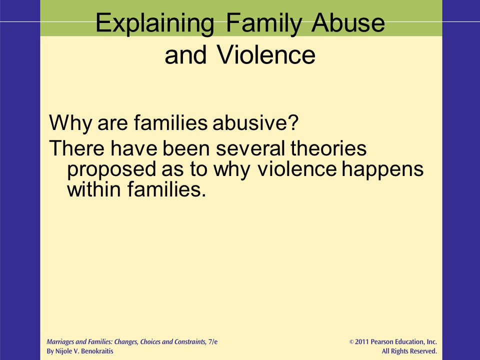 Explaining Family Abuse and Violence