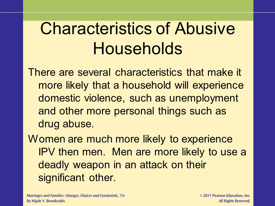 Characteristics of Abusive Households