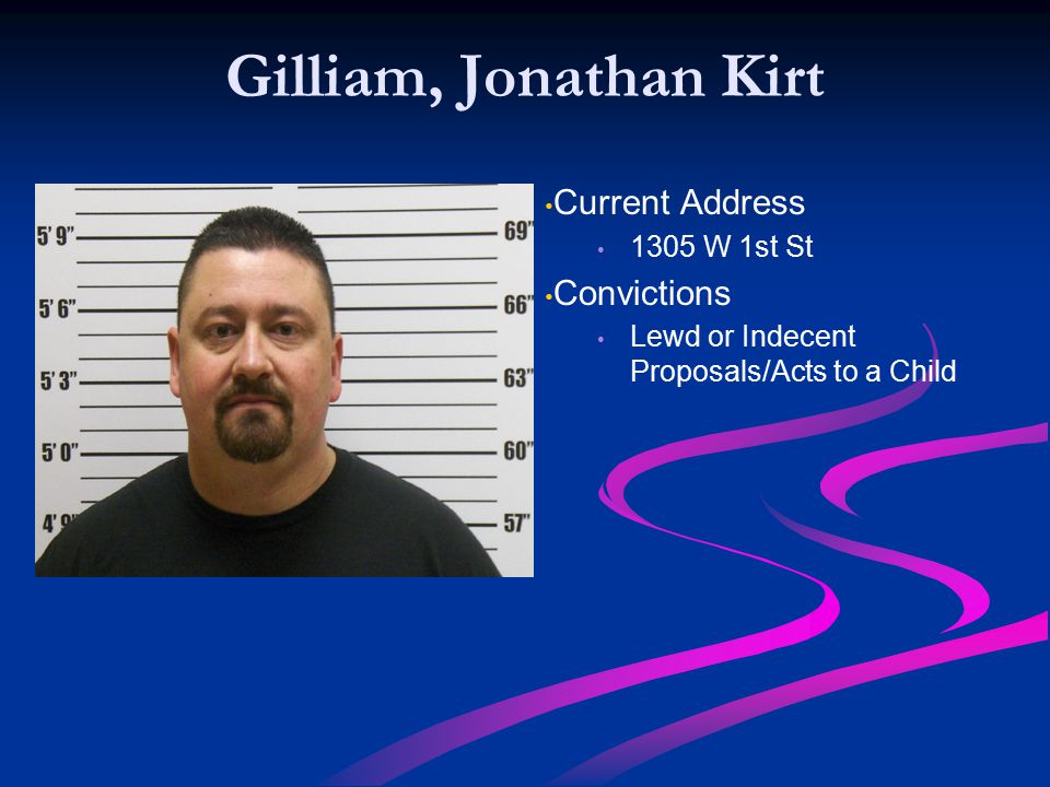 Gilliam, Jonathan Kirt Current Address Convictions 1305 W 1st St