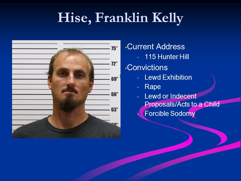 Hise, Franklin Kelly Current Address Convictions 115 Hunter Hill