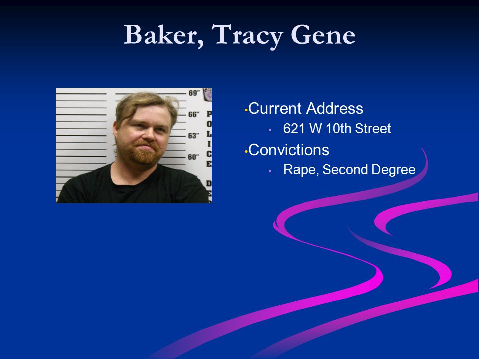 Baker, Tracy Gene Current Address Convictions 621 W 10th Street