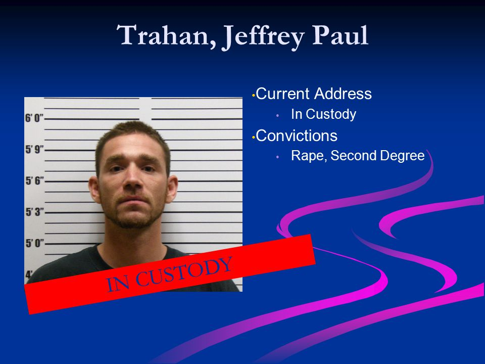 Trahan, Jeffrey Paul IN CUSTODY Current Address Convictions In Custody
