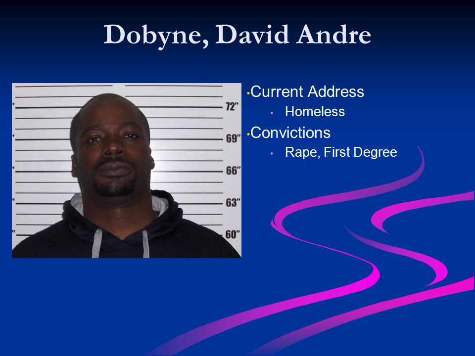 Dobyne, David Andre Current Address Convictions Homeless