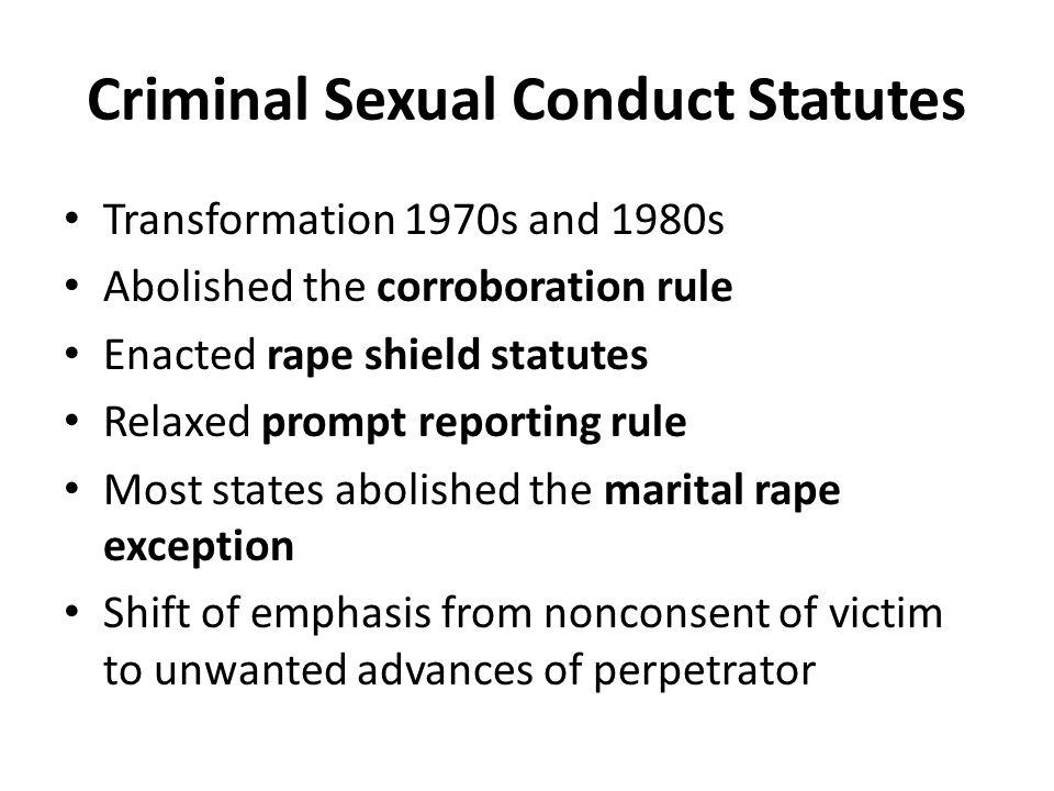 Criminal Sexual Conduct Statutes